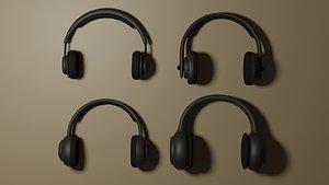 Wireless Headphones Collection 3D model