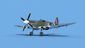 3D model Supermarine Spitfire Mk IXb  V02