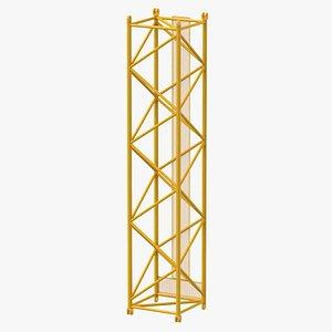 3D model crane l intermediate section