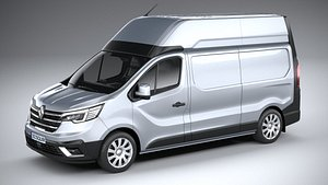 3D Renault Trafic Van L2H3 2021 model