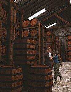 Whiskey Barrel Rickhouse 3D model