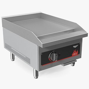 3D Vollrath 40719 Cayenne 18 Flat Top Gas Countertop Griddle