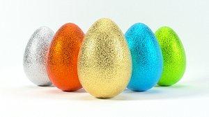 3D model glittering easter egg 4k