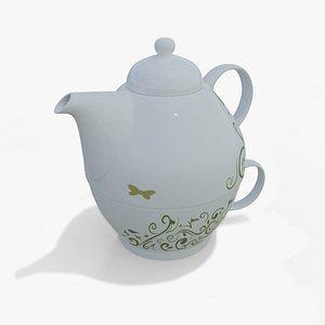 Teapot and Teacup Combo 3D
