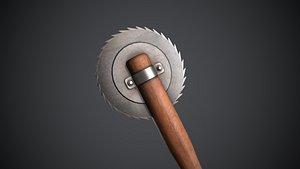 Sawblade Baseball Bat 3D model