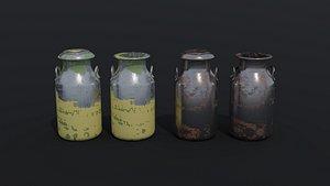 Old milk cans 3D model