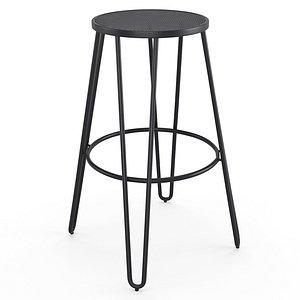 Mallone CC0836R02 bar stool 3D model