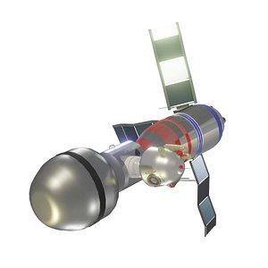 spacecraft soyuz capsule 3D