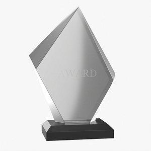 Glass trophy award mockup 3D model