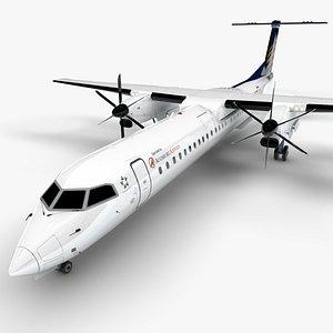 3D Augsburg Airways Bombardier DHC-8 Q400 Dash 8 L1498