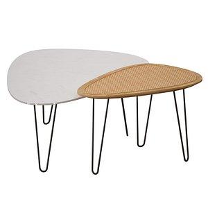 triangular coffee tables 3D model