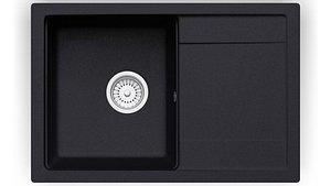 3D model Sink Fosto 740 x 490 black