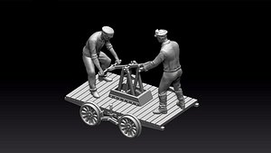 handcar 3D model