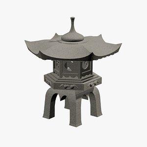 3D japanese lantern japan