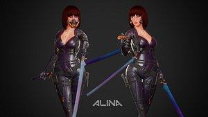 Cyberpunk Alina Robot 3D model