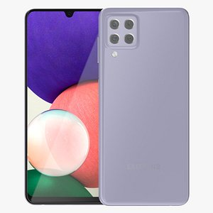 Samsung Galaxy A22 Violet 3D
