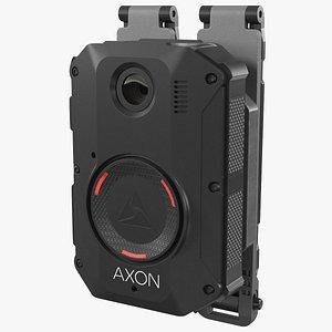 3D model Axon Body 3 Police Body Camera on Molle Mount