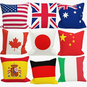 3D model Flags Pillows Collection V3