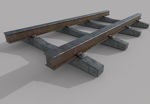 railOld Railway Track 3D model