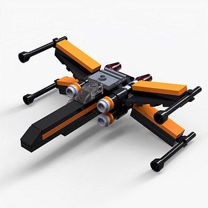 Lego Poe's X-Wing Fighter 3D