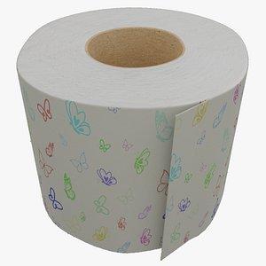 Toilet paper 02 3D model