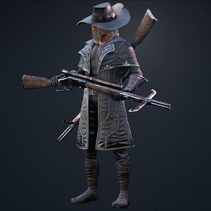 3D vampire hunter model