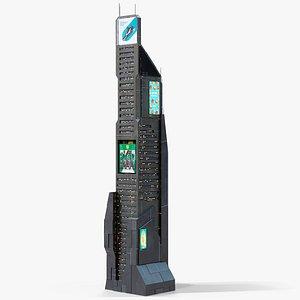 Sci-Fi Futuristic Skyscraper PBR 05 3D model