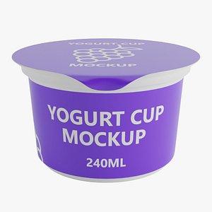 yogurt cup 240ml 3D