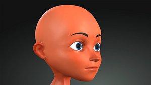 Cartoon boy Rigged model man 3D