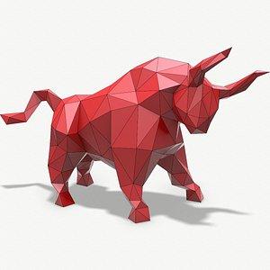 papercraft bull paper 3D model