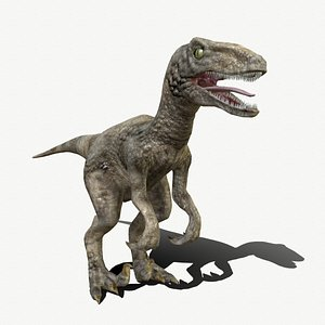 3D model velociraptor animations
