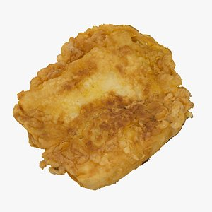 fried cheese 01 raw 3D