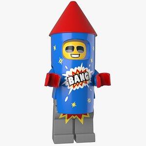 lego Fireworks Guy 3d Model 3D