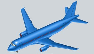 airbus a319-100 solid assembly 3D model