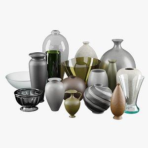 Decorative vase collections 3D model