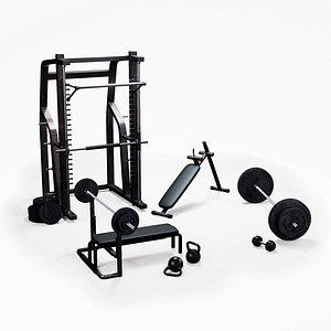 Home gym exercise equipment model