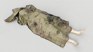 3D Stylized dead body vol1 model