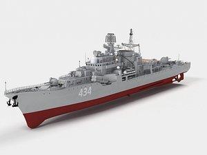 Admiral Ushakov  Sovremenny-class destroyer 3D model