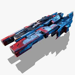 3D spaceship vehicle spacecraft