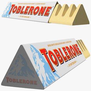 3D Opened Toblerone White Chocolate Bar model