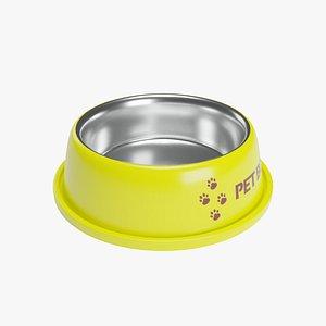 Pet Bowl Yellow Metallic model