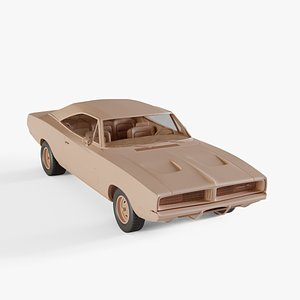 3D model 1969 Dodge Charger RT