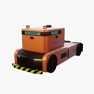 3D model Driverless truck