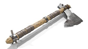 Battle Axe with Serrated 3D model