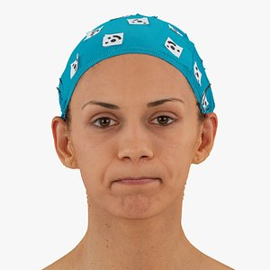 athena human head cheek 3D model