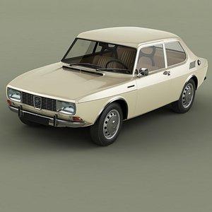 1968 saab 99 3D model