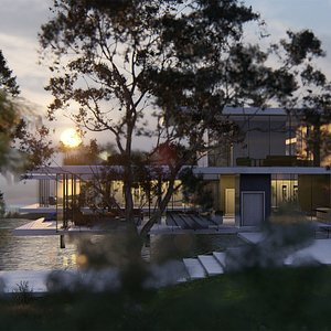 Luxury modern Beach Villa 3D