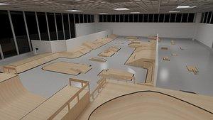 indoor skateboard park 3D model