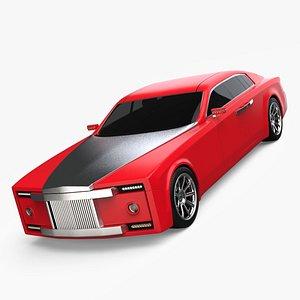 3D limousine car concept design model