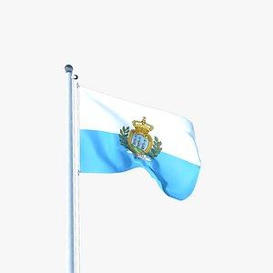 Animated Flag of San Marino model